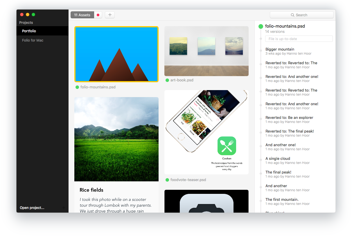 Folio for mac