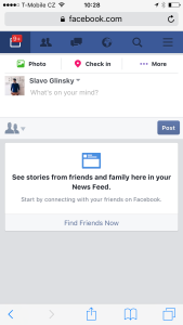 Facebook's News Feed badge shows even when there are none